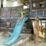 Naturist party adults and young nudists